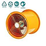 Sntsya Ventiladores extractores Ventilador de Tubo Industrial Ventilador de Escape Mixto Turbo Ventilador de Tubo de 300 mm, Ventilador de Escape 370W