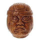 NOVICA Metallic Archaeological Stucco On Ceramic Sculpture, 7.5