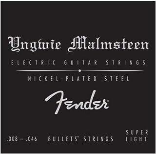 Fender エレキギター弦 Yngwie Malmsteen Signature Electric Guitar Strings.008-.046, Nickel-Plated Steel