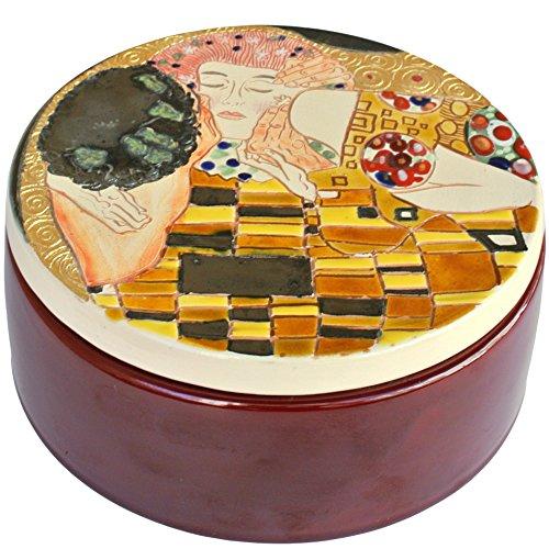 "La terra incantata Aufbewahrungsdose ""der Kuss"", Italienische emaillierte Keramik, italienische Handarbeit"