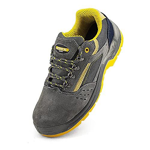 JOMIX Zapatos de seguridad para hombre y mujer, zapatos...