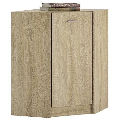 Möbel to go 4 You Eckschrank mit Melamin, 61 x 86 x 61 cm, Sonama Oak