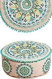 Badar - Puf redondo de algodón ( 50 cm de diámetro, redondo, con relleno)
