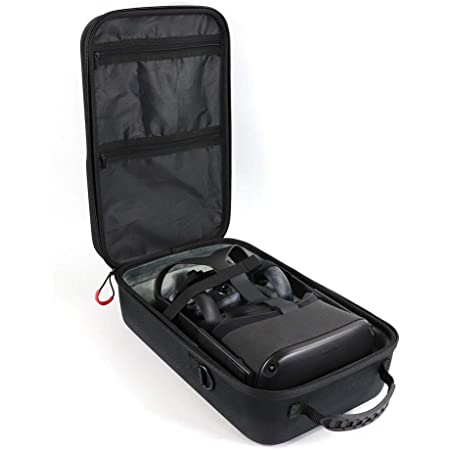Black Hard Carrying Case for Oculus Quest All-in-one VR Gaming Headset and Controllers Accessories Protective Storage Travel Bag