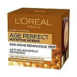 L'Oréal Paris - Age Perfect - Nutrition Intense - Soin Jour Réparateur - Anti-Relâchement & Nutrition - Peaux Matures - 50 mL