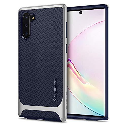 Spigen Neo Hybrid Kompatibel mit Samsung Galaxy Note 10 Hülle, Zweiteilige Handyhülle Modische Muster Silikon und PC Rahmen Schutzhülle Case Arctic Silver 628CS27384