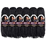 Toyotress Marley Hair Crochet Braid - 16 inch 6 Packs Faux Locs Style Synthetic Braiding Hair Extensions (16 Inch,1B)