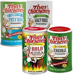 4 Pack Variety: Tony Chachere's Creole Cajun Seasoning
