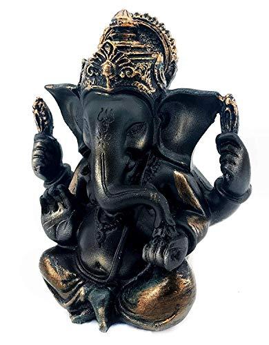 Bellaa 23071 Ganesha Statue Hindu God Lord Ganapati Idol Blessing Ganesh Sculpture Indian Elephant Buddha India Diwali Pooja Ritual Home Decoration Good Luck Success Housewarming Gift 5 inch
