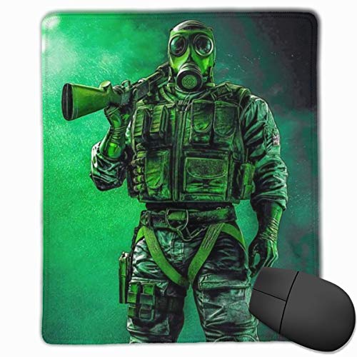 Game Theme Rainbow Six Siege Mouse Pad for Computer, Professional High-Performance Mouse Mats with Rubber Base, Best Mousepad for Desktop - 9.8x11.8 in