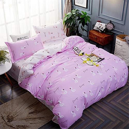 ARTEZXX beddengoed set 3-delig - roze flamingo baby - 100% polyester stof dekbedovertrek set gebruik zachte rimpel gratis hypoallergene rits & hoekbanden (1 dekbedovertrek + 2 kussenslopen)