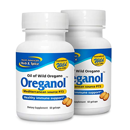North American Herb & Spice Oreganol P73 (2 Pack) - 60 Softgels - Immune System Support - Unprocessed, Vegan Friendly Wild Oregano - Mediterranean Source - Non-GMO - 120 Total Servings