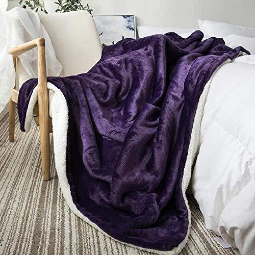 Asbecky Mantas Sofa De Pelo Manta de Lana de Coral Doble de Invierno, Manta para sofá Cama, Suave y Ligera/cálida para sofás y Camas-El 100x160cm_K