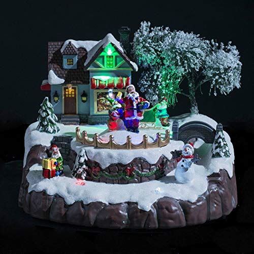 JJA - Villaggio di Natale luminoso animato con musica