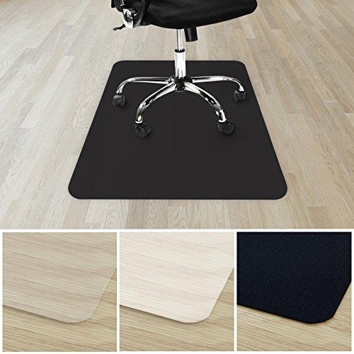 etm® Bodenschutzmatte für Hartboden | verschiedene Farben | 100% ohne BPA & Phthalate - Geruchsfrei | Bürostuhlunterlage für zuhause und im Büro | viele Größen (schwarz - 90x120 cm)