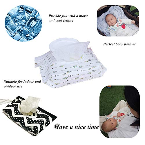 Joyous Journey [6-Pack] Portable Wet Wipe Pouch Dispenser, Eco Friendly Reusable & Refillable Baby Travel Diaper Wipe Carrying Case Holder | Keeps Wet Wipes Moist