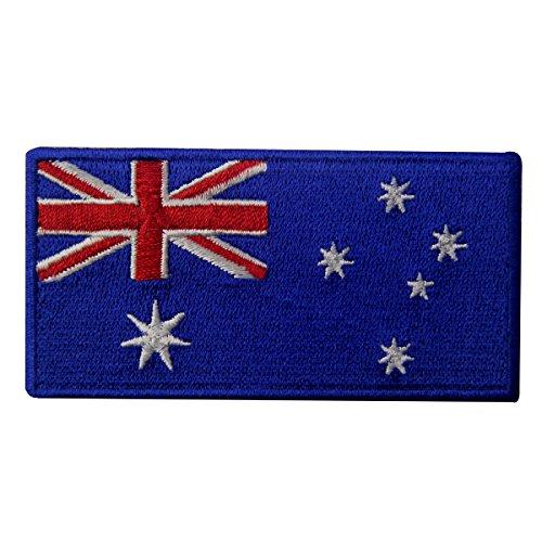 Australien Flagge Australisch Nationales Emblem Bestickter Aufnäher zum Aufbügeln/Annähen