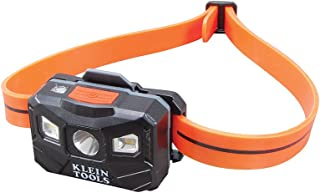 Klein Tools 56034 Head Lamp, Rechargeable Headlamp for Hardhats, LED Spot Lamp and LED Flood Light Lamp