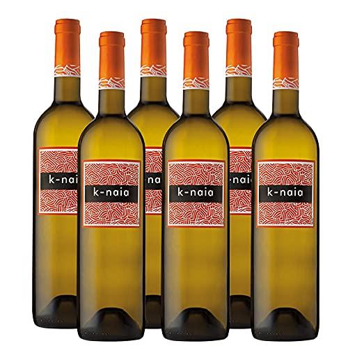 Vino Blanco K-Naia de 75 cl - D.O. Rueda - Bodegas Naia (Pack de 6 botellas)