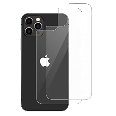 Ruky Back Screen Protector for iPhone 12 Pro Max [2-Pack], Anti Scratch, No Bubble, Anti Fingerprint, Case Friendly, HD Clarity, Durable Back Tempered Glass Screen Protector for iPhone 12 Pro Max