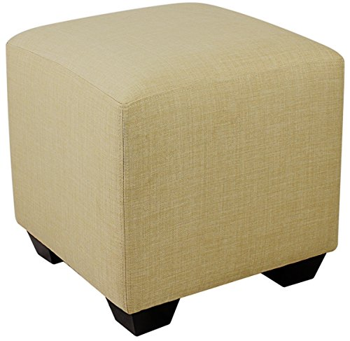 Sitzwürfel Sitzhocker Hocker Gepolstert Beige - 2001A/2486