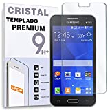 REY Protector de Pantalla para Samsung Galaxy Core 2 G355 Cristal Vidrio Templado Premium