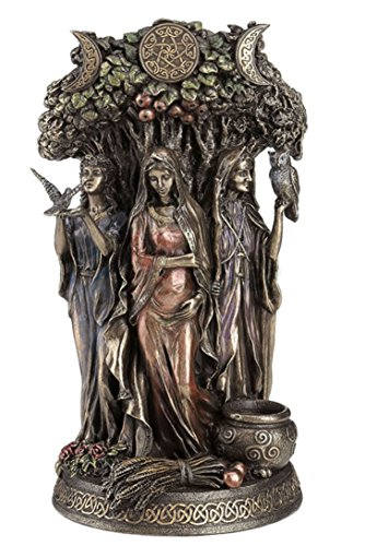10.5' Celtic Triple Goddess Maiden Mother & The Crone Statue Sculpture Deities