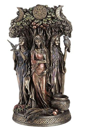 10.5' Celtic Triple Goddess Maiden Mother & The Crone Statue Sculpture Deities