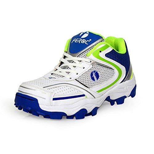 Feroc Field Men's White Cricket Shoes -8.5