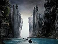XiuTaiLtd ジグソーパズル1000 PC、Lord of the Rings Argonath Fellowship of the Ring Puzzle for the Adults Kids、ホリデーギフト