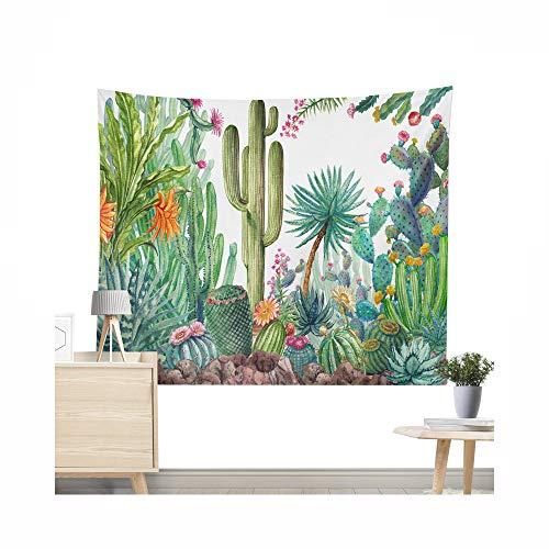 Miguor - Toalla de playa de fibra de poliéster, diseño de cactus suculentas plantas, dacron, 9. Cactus amarillo, 200 * 150cm