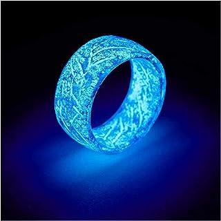 RollingBronze - Anillo luminoso que brilla en la oscuridad,