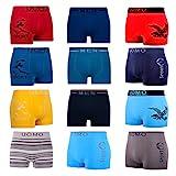 LK - Lot de 5/10 - Boxers Homme - rétro Shorts - pour sous-vêtements en Microfibre Confortable - 1202, Lot-de-10 (Multicolere),...