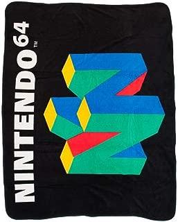 bioWorld Nintendo N64 Logo Classic Fleece Throw Blanket 48
