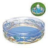 Inflatable Pools,Three-Ring Round PVC Inflatable Bathtub Paddling Pools 150 * 53CM,Infant Sand Pool