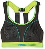 Shock Absorber Ultimate Run Sujetador Deportivo, Multicolor (Black/Lime), 85 para Mujer