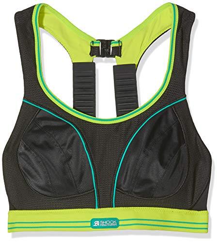 Shock Absorber Damen Bustier Sport-BH Ultimate Run Einfarbig, Noir (Noir/Citron Vert), Gr. 70B (Herstellergröße: 32B)