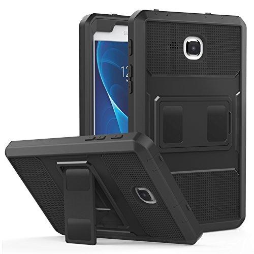 MoKo Compatible con Tab A 7.0 Case - Custodia Full Body Coperta Protettiva Anti-Urti e Sporco con Pellicola Integrata per Galaxy Tab A (7.0, Wi-Fi) SM-T280 / SM-P285 Tablet (2016 Modello), Nero