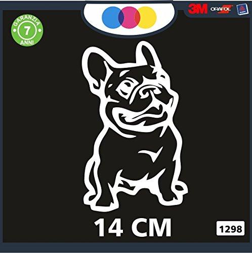 Pegatina para Coche–Bulldog francés Color Nero- Stickers...