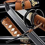 Best Handmade Sword Katana Swords - OYZ Sharp Katana Japanese,Handmade Samurai Katana Sword 1060 Review