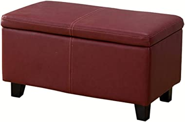 LJFYXZ Ottoman Footstool Rectangular Storage Stool Modern Simplicity Multifunctional Bed end Stool PU Leather Upholstered sea
