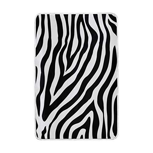 Funnyy Animal Zebra - Manta para sofá o Cama