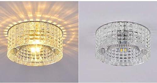 XQY L'éclairage de Corridor de Chambre à Coucher de Salon, Cristal de plafonnier de ménage a Hommesé Les lumières de Mur de bati encastré de plafonnier de 5W La voitureactéristique Moderne intégrée pour l'a