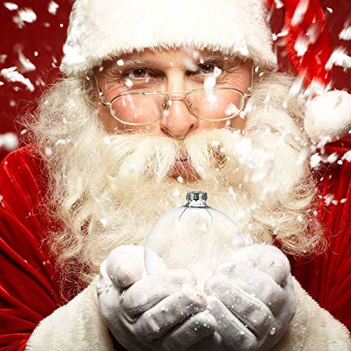 Merkisa - 6 palline per albero di Natale in vetro trasparente con decorazioni, riempibili, con lampadine in rame, luci per Natale, feste, compleanni, matrimoni, vetro incolore