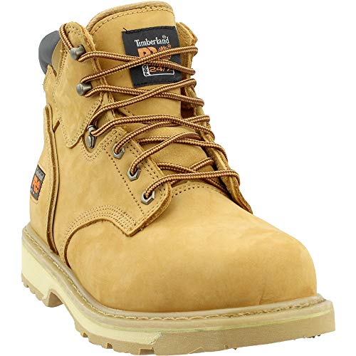 Timberland PRO Mens Pit Boss 6 Inch Steel Toe Work s Casual Work & Safety Shoes, Beige, 11.5