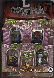 3D Trading Game Creepy Freaks Starter Set Cartoon DVD Included by WizKids