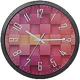 VECELO Reloj de Cocina Pared, 30CM Reloj de Pared Decorativo Sala de Estar Dormitorio Creativo Silencio Redondo Personalidad Moderna Moda Reloj Simple Reloj de Cuarzo