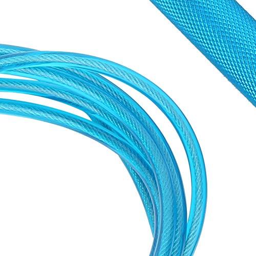 Tomantery Jumprope mit griffigen Griffen für zu Hause und im Fitnessstudio für den Wettkampf(Blue)