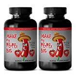 Natural Sex Enhancer for Men - Make My Pepper Big - Natural Sexual Enhancement for Men - 2 Bottles 120 Capsules
