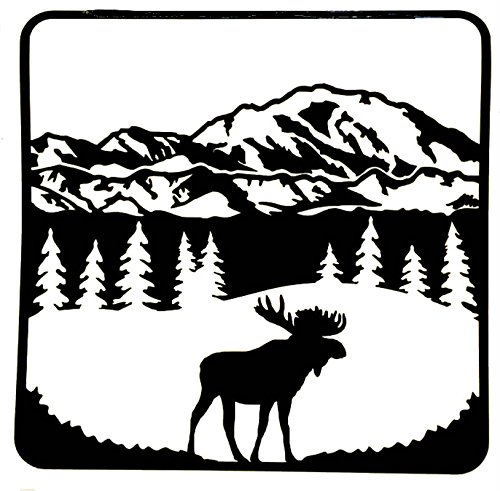 Moose in the Tree Clip Art